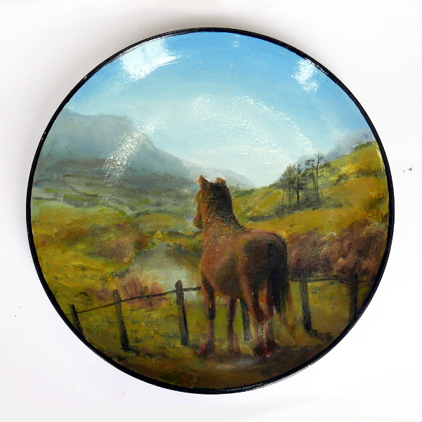 plate no.2: Horses looking at walls they could easily jump over :holly english