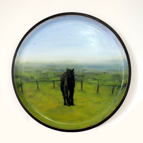 1st plate: Horses looking at walls they could easily jump over